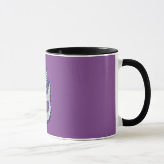 Gray Narwhal Whale With Spots Ink Drawing Design Mug