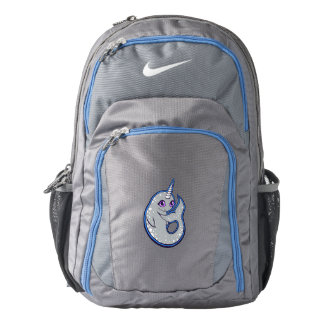 Gray Narwhal Whale With Spots Ink Drawing Design Nike Backpack