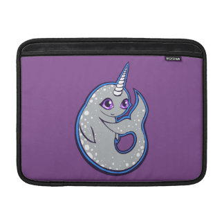 Gray Narwhal Whale With Spots Ink Drawing Design Sleeve For MacBook Air