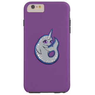 Gray Narwhal Whale With Spots Ink Drawing Design Tough iPhone 6 Plus Case