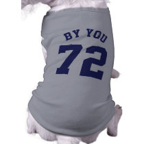 Gray & Navy Blue Pets | Sports Jersey Design Tee
