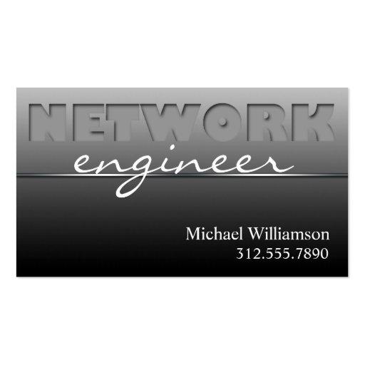 Gray Network Technology Sleek Business Cards