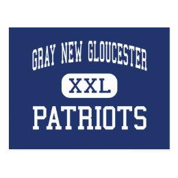 Gray New Gloucester - Patriots - High - Gray Maine Postcard