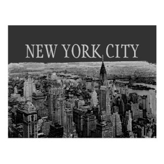 Gray New York City Panorama Postcards