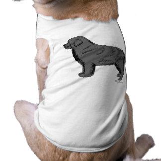 GRAY NEWFOUNDLAND DOG SHIRT