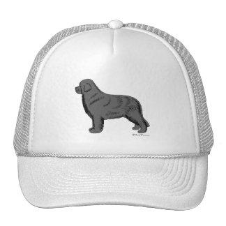 GRAY NEWFOUNDLAND DOG TRUCKER HAT