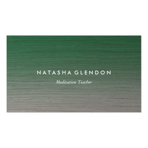 Gray Oak Green Zen Business Card