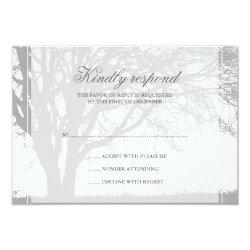 Gray Oak Winter Wedding Response Card 3.5