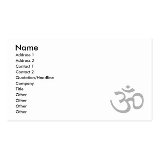 Gray Om or Aum ॐ.png Business Cards