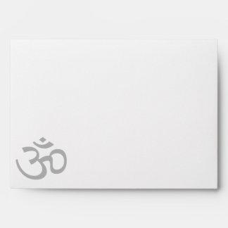 Gray Om or Aum ॐ.png Envelope