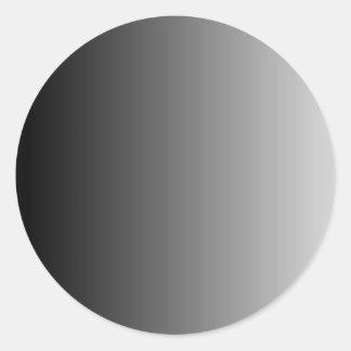 Gray Ombre Classic Round Sticker