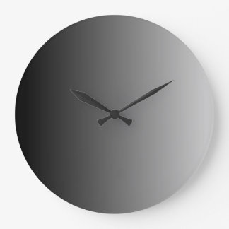 Gray Ombre Large Clock