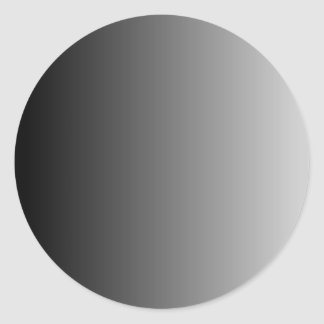 Gray Ombre Round Stickers