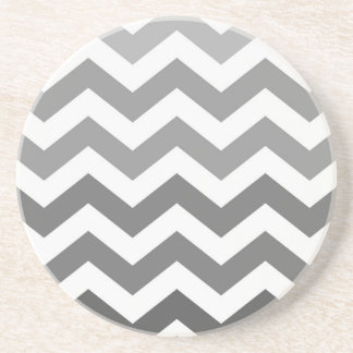 Gray Ombre Zigzags Drink Coaster