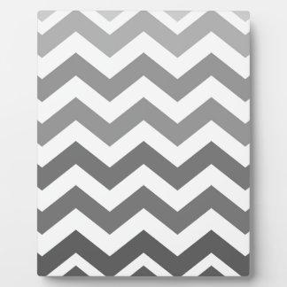 Gray Ombre Zigzags Plaque