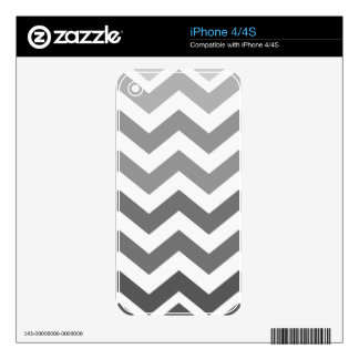 Gray Ombre Zigzags Skins For The iPhone 4