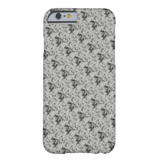 Gray on White Pattern Barely There iPhone 6 Case