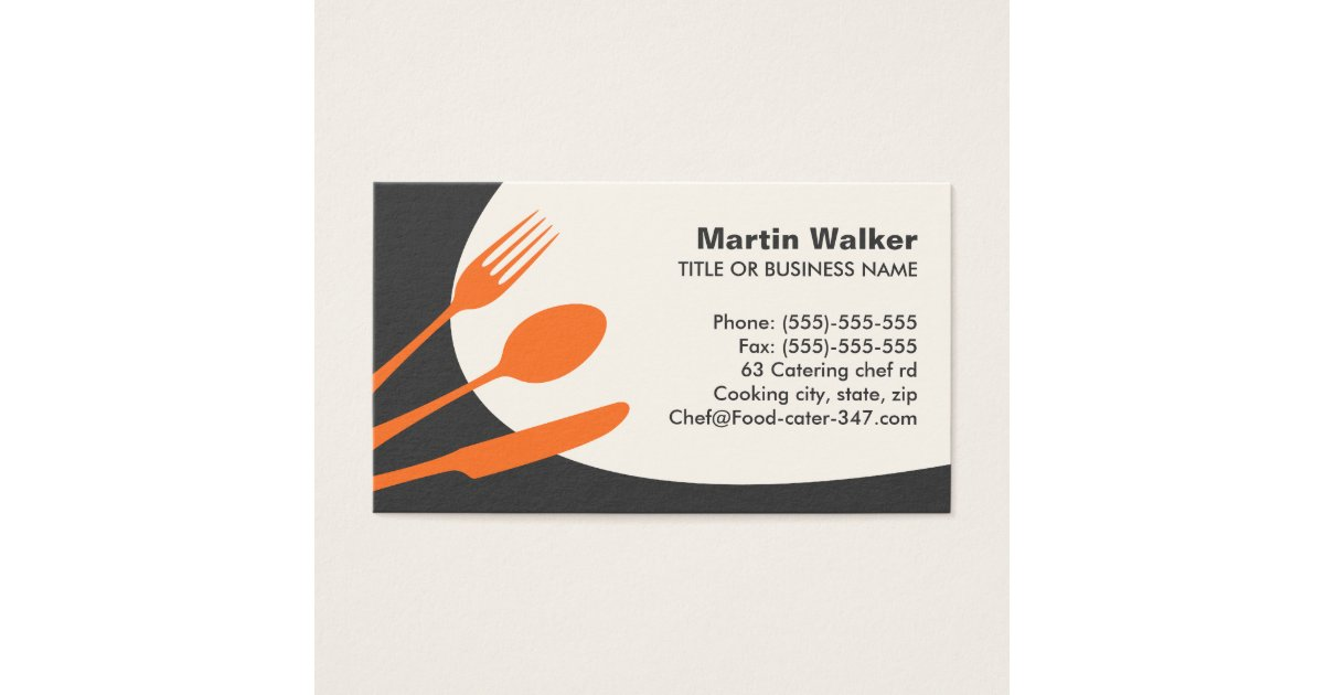 Catering Service Business Cards & Templates | Zazzle