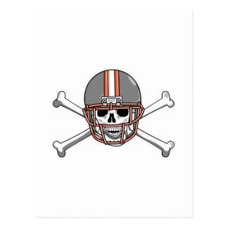 Gray Orange Skull & Bones Postcard