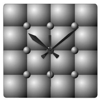 Gray Padded Cushion Effect Wall Clock