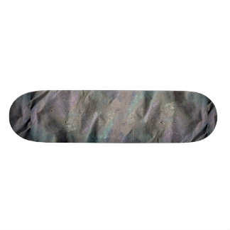 Gray painted canvas skate board deck