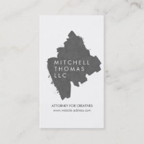 Gray Painted Logo Business Card