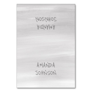 Gray Painted Personalized Name Event Card