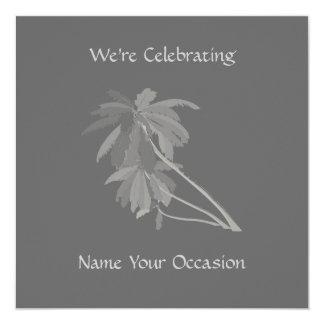 Gray Palm Invitations