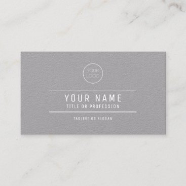 Gray Paper Business Card