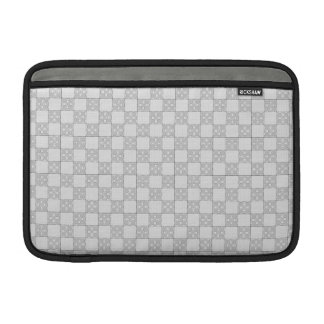 Gray Patchwork Pattern Sleeves For MacBook Air