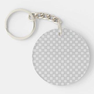 Gray Patchwork Pattern Keychain
