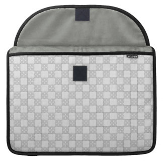 Gray Patchwork Pattern Sleeve For MacBook Pro