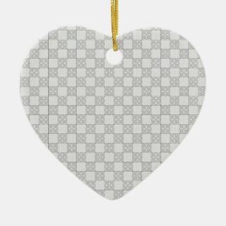 Gray Patchwork Pattern Christmas Ornaments
