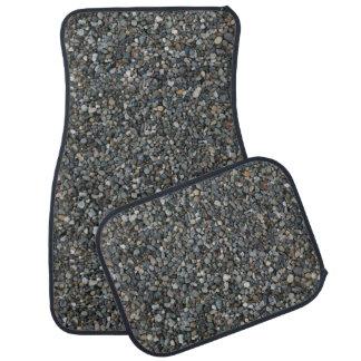 Gray Pea Gravel Rocks Pebbles Car Mat