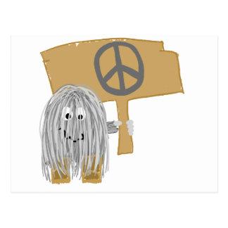 Gray Peace Postcard