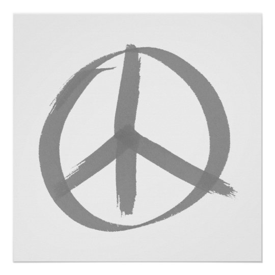 Gray Peace Sign