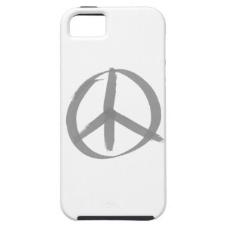 Gray Peace Sign iPhone SE/5/5s Case