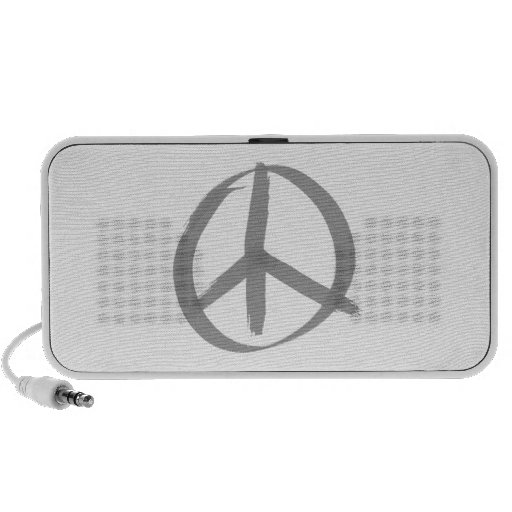 Gray Peace Sign iPhone Speakers