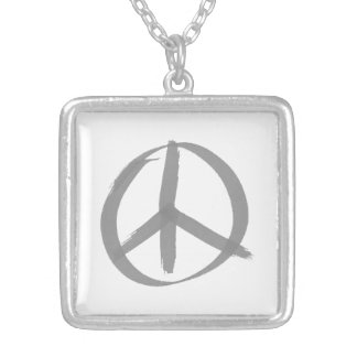 Gray Peace Sign Jewelry