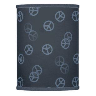 Peace lamp shades zazzle gray peace sign pattern lamp shade aloadofball Gallery