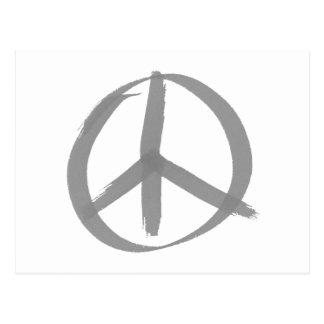 Gray Peace Sign Postcard