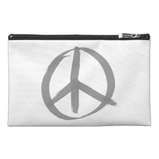 Gray Peace Sign Travel Accessories Bags