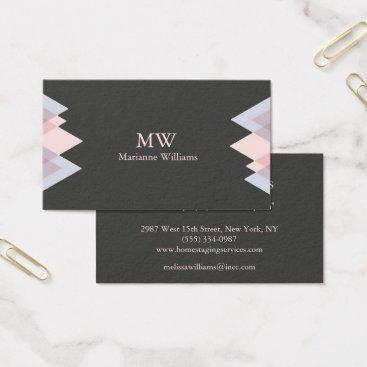 Professional Business Gray Peach Arrow Women's Professional Business Business Card