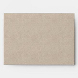 Gray Pearls Parchment Wedding Invitation Envelope