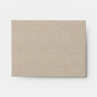 Gray Pearls Parchment Wedding RSVP Envelope