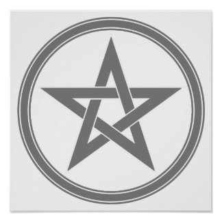 Gray Pentacle Poster