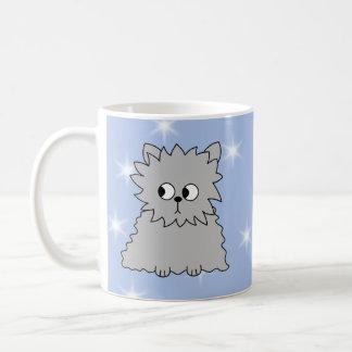 Gray Persain with Blue Star Pattern. Coffee Mug