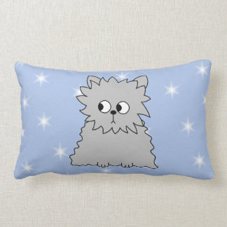 Gray Persain with Blue Star Pattern Throw Pillows
