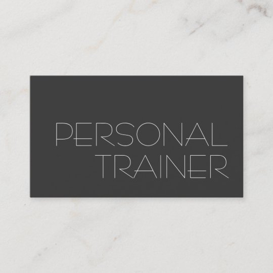gray personal trainer fitness business card - Fitness Business Cards