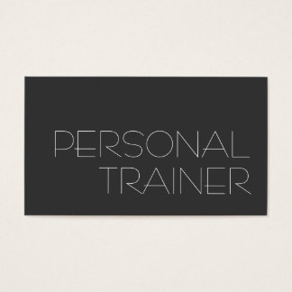 Gray Personal Trainer Fitness Business Card
